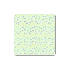 Minty Hats Square Magnet