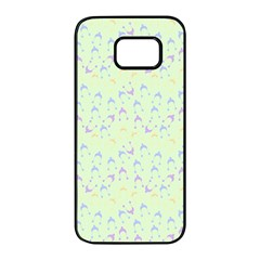 Minty Hats Samsung Galaxy S7 Edge Black Seamless Case
