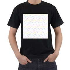 Pastel Hats Men s T Shirt (black) (two Sided)