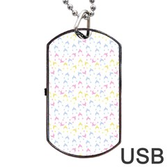 Pastel Hats Dog Tag Usb Flash (two Sides)