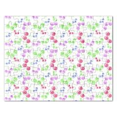 Candy Cherries Rectangular Jigsaw Puzzl