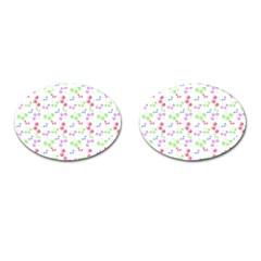 Candy Cherries Cufflinks (oval)