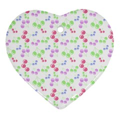 Candy Cherries Heart Ornament (two Sides)