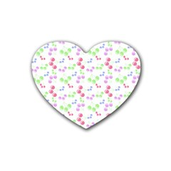 Candy Cherries Rubber Coaster (heart)