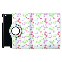 Candy Cherries Apple Ipad 3/4 Flip 360 Case