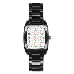 Candy Cherries Stainless Steel Barrel Watch