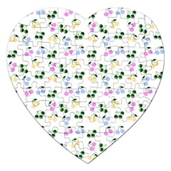 Green Cherries Jigsaw Puzzle (heart)