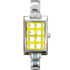 Big Dot Yellow Rectangle Italian Charm Watch