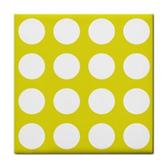 Big Dot Yellow Tile Coasters