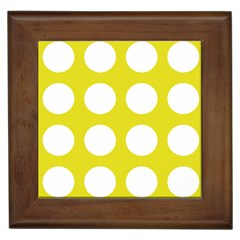 Big Dot Yellow Framed Tiles