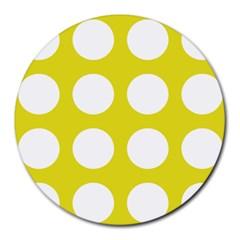Big Dot Yellow Round Mousepads