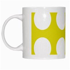 Big Dot Yellow White Mugs