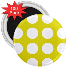 Big Dot Yellow 3  Magnets (100 Pack)