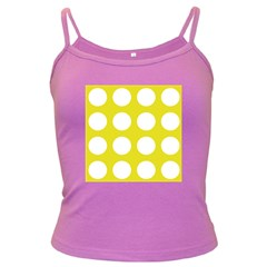 Big Dot Yellow Dark Spaghetti Tank