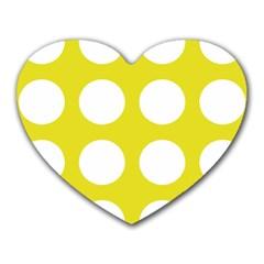 Big Dot Yellow Heart Mousepads