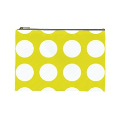 Big Dot Yellow Cosmetic Bag (large)
