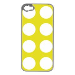 Big Dot Yellow Apple Iphone 5 Case (silver)
