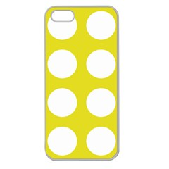 Big Dot Yellow Apple Seamless Iphone 5 Case (clear)