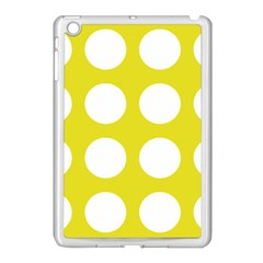Big Dot Yellow Apple Ipad Mini Case (white)
