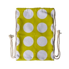 Big Dot Yellow Drawstring Bag (small)