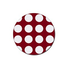 Big Dot Red Rubber Round Coaster (4 Pack)