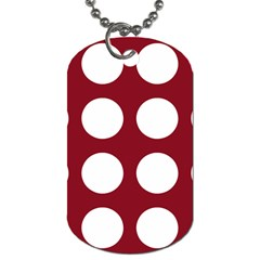 Big Dot Red Dog Tag (two Sides)