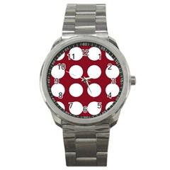 Big Dot Red Sport Metal Watch