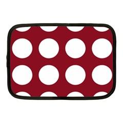 Big Dot Red Netbook Case (medium)