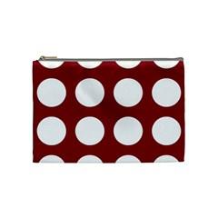 Big Dot Red Cosmetic Bag (medium)