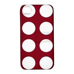 Big Dot Red Apple Iphone 4/4s Hardshell Case With Stand