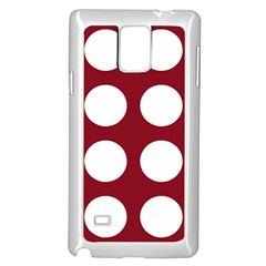 Big Dot Red Samsung Galaxy Note 4 Case (white)