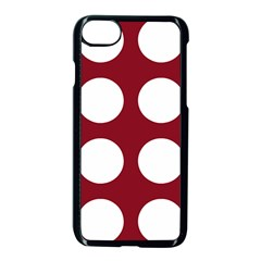 Big Dot Red Apple Iphone 8 Seamless Case (black)