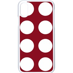 Big Dot Red Apple Iphone X Seamless Case (white)