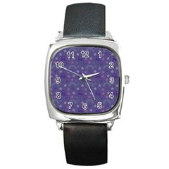 Music Stars Blue Square Metal Watch