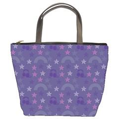 Music Stars Blue Bucket Bags