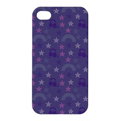 Music Stars Blue Apple Iphone 4/4s Hardshell Case