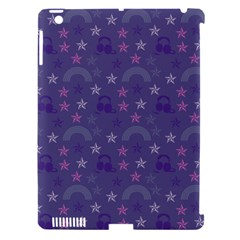 Music Stars Blue Apple Ipad 3/4 Hardshell Case (compatible With Smart Cover)