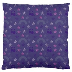 Music Stars Blue Large Cushion Case (two Sides)