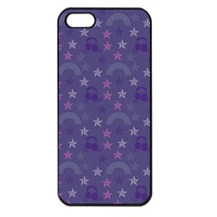 Music Stars Blue Apple Iphone 5 Seamless Case (black)