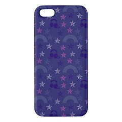 Music Stars Blue Apple Iphone 5 Premium Hardshell Case
