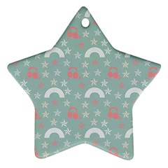 Music Stars Sky Blue Star Ornament (two Sides)