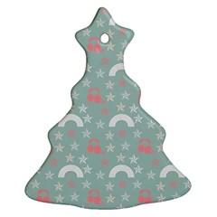 Music Stars Sky Blue Christmas Tree Ornament (two Sides)