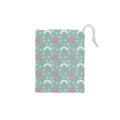 Music Stars Sky Blue Drawstring Pouches (xs)