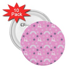 Music Star Pink 2 25  Buttons (10 Pack)