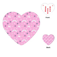 Music Star Pink Playing Cards (heart)