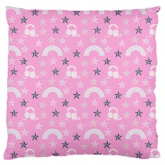 Music Star Pink Large Cushion Case (two Sides)