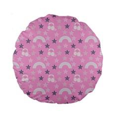 Music Star Pink Standard 15  Premium Round Cushions