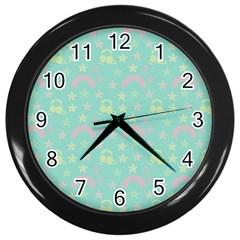 Music Stars Seafoam Wall Clocks (black)