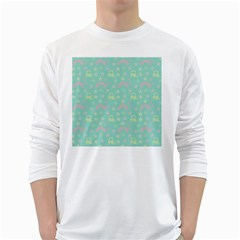 Music Stars Seafoam White Long Sleeve T Shirts