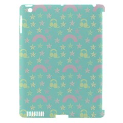 Music Stars Seafoam Apple Ipad 3/4 Hardshell Case (compatible With Smart Cover)